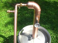 "Beer Keg Kit Copper 2"" inch Moonshine Pipe Still Pot Still Distillation Column"