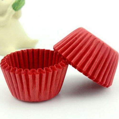 1000Pcs Mini Chocalate Paper Liners Baking Muffin Cake Cupcake Cases Solid Color