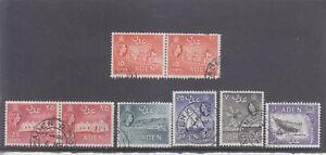 ADEN-1953-QE11 DEFINS x 6-SG 51/53/54/56/61/63-FINE USED-$7-freepost