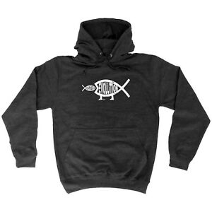 Funny-Novelty-Hoodie-Hoody-hooded-Top-Creation-Evo-Fish