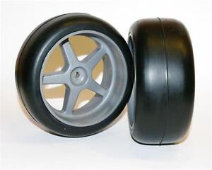 2x-On-Road-Slick-Reifen-vorne-63mm-1-6-verklebt-fuer-CARSON-MCD-XRC-REELY