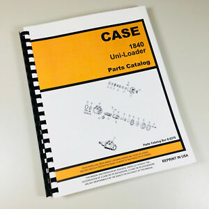 case 1840 uni loader parts manual catalog skid steer assembly rh ebay com Case 1840 ManualDownload Case 1840 Service Manual