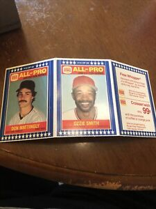 1987 BURGER KING ALL-PRO 2nd EDITIOn NR/MINT-MINT! Don Mattingly/Ozzie Smith