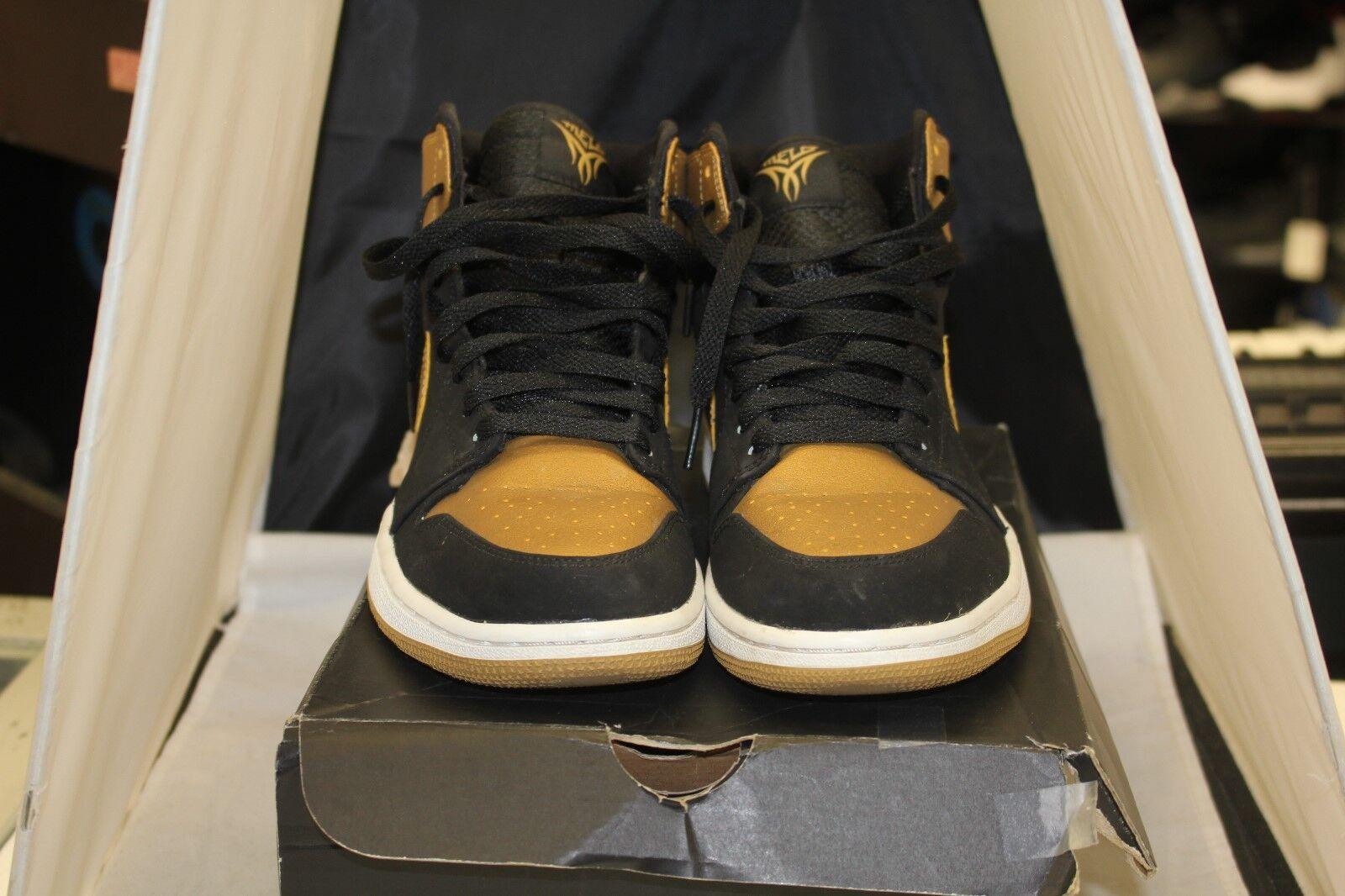 Nike Air Jordan Retro 1 One 332550-026 High Melo Nero Gold Size 8.5