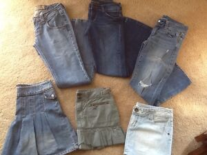 LOT-6-AMERICAN-EAGLE-HINT-BONGO-LEI-JUNIORS-WOMENS-S-SZ-2-3-4-JEANS-SKIRTS-GIRLS