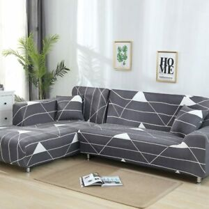L Shaped Sofa Cover Stretch Sectional Couch For Living