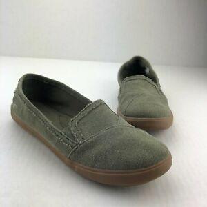 rocket dog casual canvas shoes slipon flats 95 green