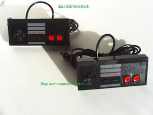 2X-New-Black-6ft-Mini-Classic-Nintendo-Nes-System-Console-Controller-Control-Pad