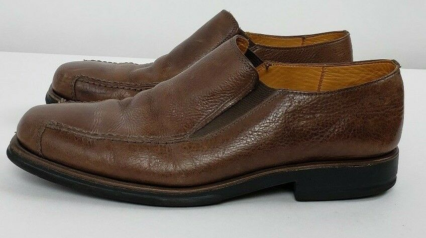 Sandro Moscoloni Comfort Walk Slip On Brown Leather Loafers Dress shoes Mens 9.5