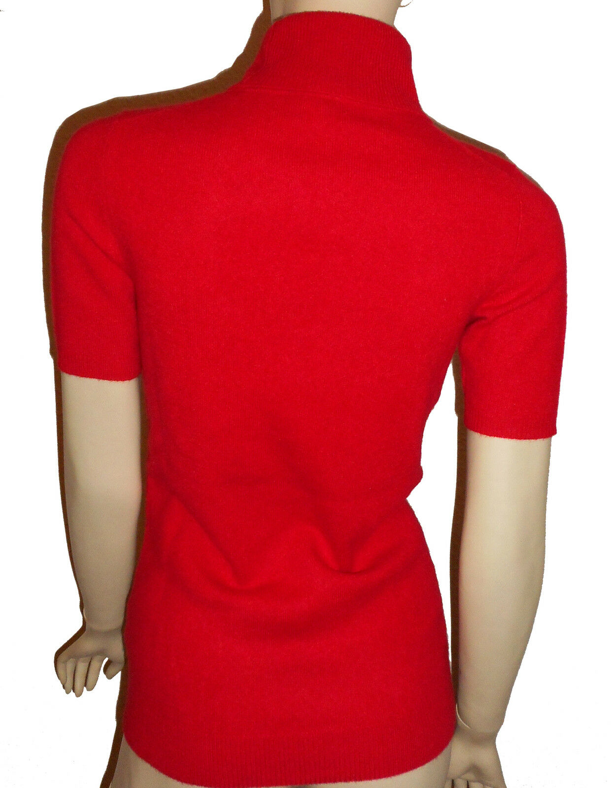 Luxe Oh ` Dor 100% Cachemire Manches Courtes Pull Pull Courtes de Classic Rouge 34 - 52 Xs/S f7f4e3
