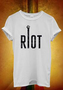 Riot Protest Stop Peace Cool Hipster Men Women Unisex T Shirt Tank Top Vest 571