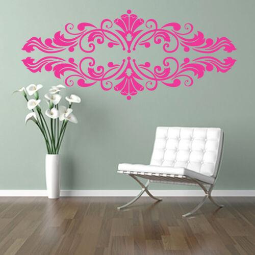 DAMASK SWIRLS floral ORNAMENT beauty salon damask frame wall art sticker decal