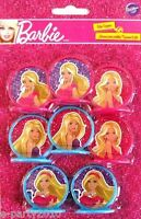 Barbie High Fashion Cupcake Toppers (8) Birthday Party Supplies Decorations