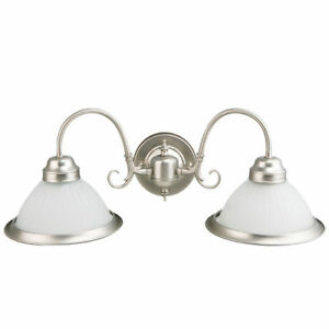 nickel bathroom wall light fixtures satin nickel image is loading 2lightvanitybathroomlightingwallsconcescroll 2 light vanity bathroom lighting wall sconce scroll arm brushed