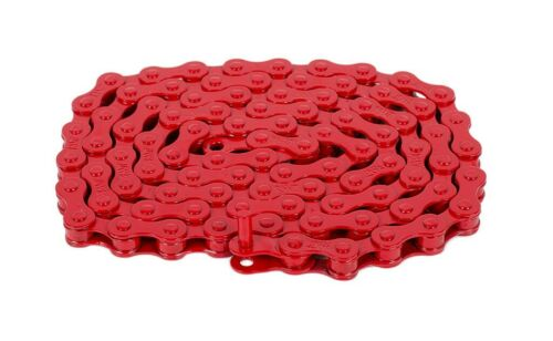 """RANT MAX 410 BMX BICYCLE CHAIN 1//8/"""" 1//2 LINK FIT SHADOW SUBROSA SE GT HARO RED"""
