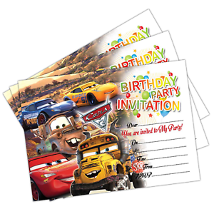 Image Is Loading Disney Cars 3 Birthday Party Invitations Invites Cards