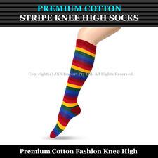 978e173cf03 item 3 Premium Cotton Stripe Knee High Socks - Girls Ladies Cheerleader Womens  Size 2-8 -Premium Cotton Stripe Knee High Socks - Girls Ladies Cheerleader  ...