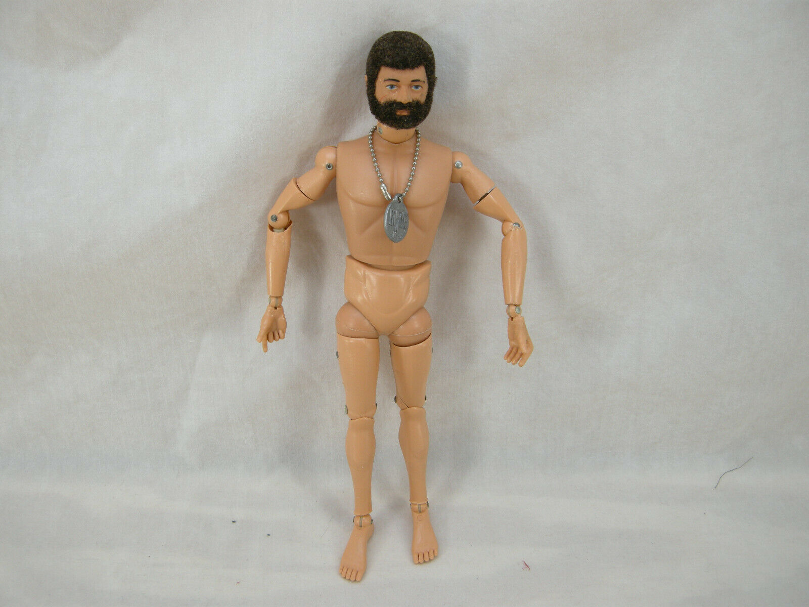 1970'S VINTAGE 12  GI JOE ADVENTURE TEAM LAND ADVENTURER FIGURE NUDE BODY DOGTAG