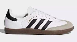 Adidas Originals Men s SAMBA OG Shoes White Black BZ0057 c  4a22812ad24