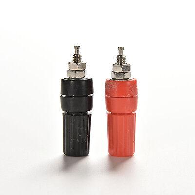 1Pair Amplifier Terminal Binding Post Banana Plug Jack Plastic Connector
