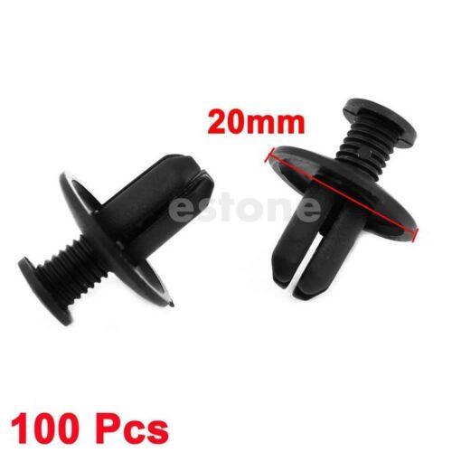100pcs 8mm Car Hole Dia Plastic Rivets Fastener Fender Bumper Push Pin Clips