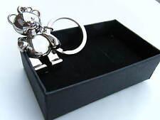 Gift Boxed Alloy Metal Teddy Bear Keyring Teddy Key Ring Brand New