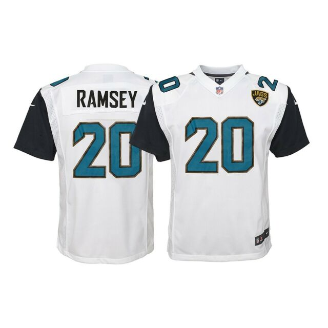 newest 7adc1 fca2d Jalen Ramsey Jacksonville Jaguars NFL Youth Nike White Away Game Jersey