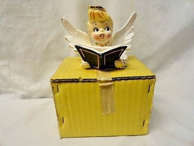 Vtg Original Holt Howard Angel Christmas Caroler Halo Song Book Candle Holder