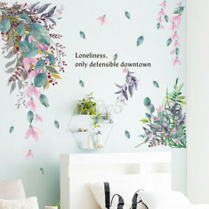 Tropical-Foliage-Leaves-Plant-Wall-Sticker-Vinyl-Decal-Home-Art-Mural-Decor