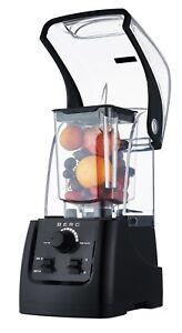 Berg 2200 W 3hp Commercial Alimentaire Blender Smoothie Maker Sound Boîtier-noir-afficher Le Titre D'origine