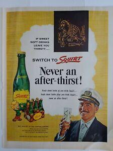 1954-Squirt-green-soda-bottle-Tartan-plaid-carton-vintage-soft-drink-ad