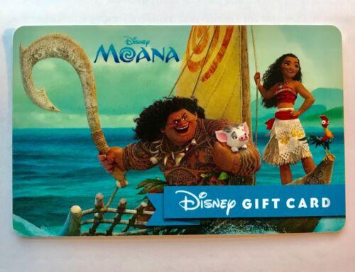 HAWAII WALT DISNEY MOANA Movie GIFT CARD DISNEYLAND