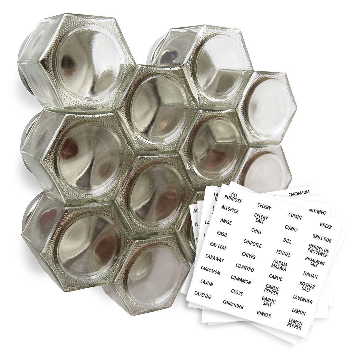 Gneis especias tarros de especias magnética grande vacía   crear un Hágalo usted mismo Colgante Especiero