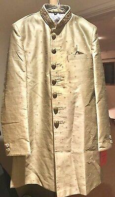"""Adorabile Color Oro Sherwani Uomo-taglia 40""""-mostra Il Titolo Originale"""