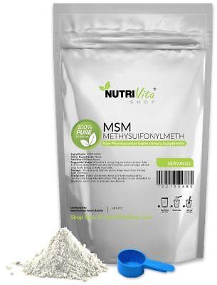 2X 250g (500g) 100% PURE MSM POWDER -JOINT PAIN & ARTHRITIS RELIEF USP