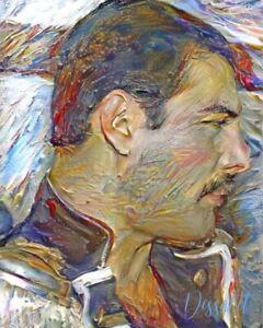 Freddie Mercury Printed Wrapped Canvas Art By SHARON DESSALET - 24 X 18.