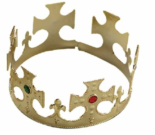Kings reina Gold Crown Royal Cuento De Hadas Vestido de fantasía