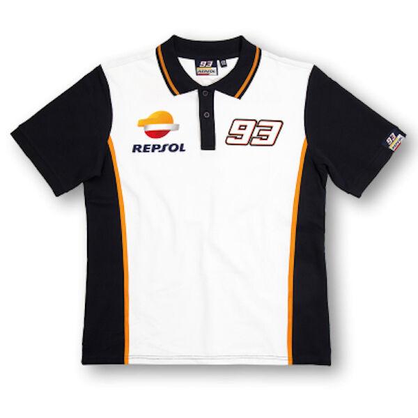 Neu Official Marc Marquez 93 Repsol Honda Polohemd - REMPO 148403 oder 16 18501