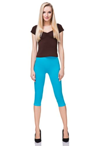 Cotton Yoga Gym Cropped Leggings 3//4 Summer Pants All Colours /& Sizes  MIDL66
