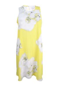 Calvin-Klein-Women-039-s-Sleeveless-Trapeze-Dress-14-Popcorn-Multi