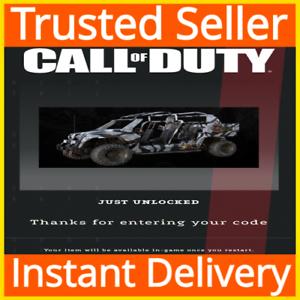 Call of Duty COD: Modern Warfare / Warzone / Mako Tac Rover Vehicle Skin DLC