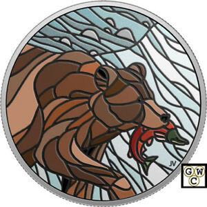 2018-039-Grizzly-Bear-Canadian-Mosaics-039-Color-Prf-20-Silver-1oz-Fine-Coin-18568-NT