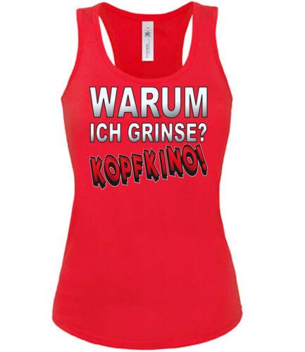 WARUM ICH GRINSE Tank Top Damen S-XL KOPFKINO