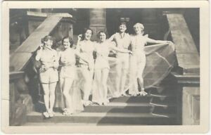 1920s-Women-in-Dance-Costumes-on-Steps-Real-Photo-Postcard