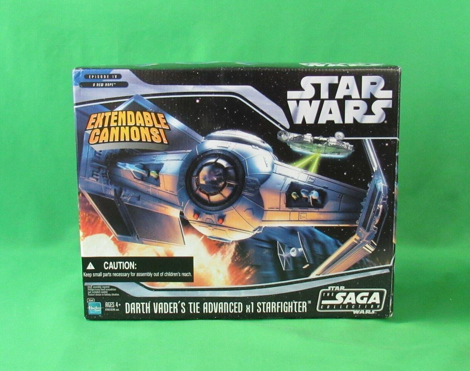 Hasbro estrella  guerras Saga Collection Darth Vader's TIE Advanced x1 estrellacombatiente nuovo  costo effettivo
