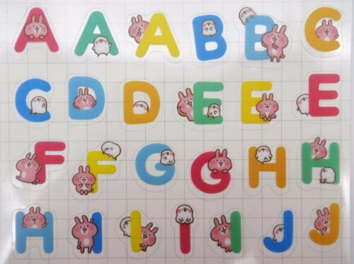 Japanese Piske /& Usagi stickers by Kanahei Kawaii ABC alphabet bunny /& chick