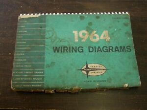 OEM Ford 1964 Wiring Diagram Book Galaxie Fairlane Comet ...