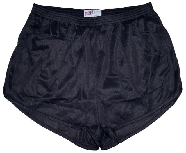 Black Nylon Ranger Panties Silkies Running Track Shorts by Soffe Men's 2XL