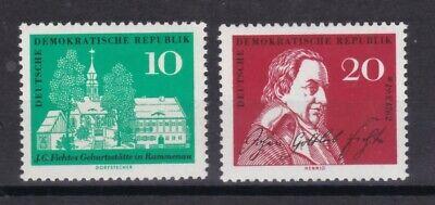 889-890 200 Hingebungsvoll Ddr 1962 Postfrisch Minr Geburtstag Von Johann Gottlieb Fichte
