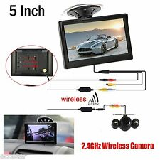"""Wireless IR Rear View Back up Camera Night Vision System+5"""" Monitor for Car SUV"""